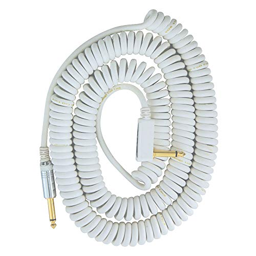Vox Coiled Cable VCC-90(9m) Guitar and Base Shield , whites