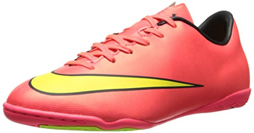 Price comparison product image Nike Youth Mercurial Victory V Indoor Soccer Shoes (Hyper Punch/Metallic Gold Coin/Black/Volt) (11C)