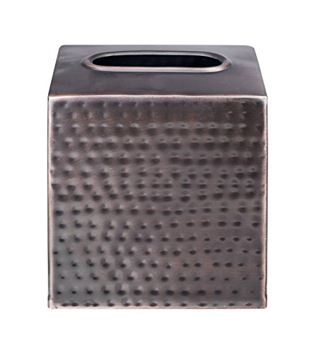 Five Queens Court Parker Metal Bathroom Accessories Collection - Tissue Holder - In Silver or Oil Rubbed Bronze