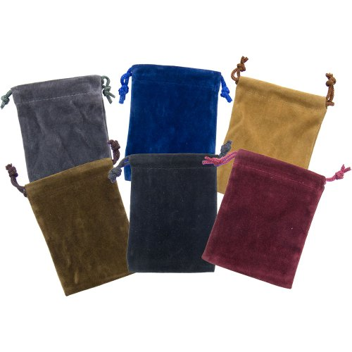 The New Age Source Unlined Velvet Bag 2 X 2.5 Assortment 12 Pack (New Age Jewelry)