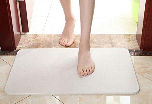 Bath Mat, Absorbent Diatomaceous Earth, Antibacterial Deodorant Nonslip Bathroom Floor Mats dehumidify,remove bad smell,clean the air (Gray, 6003909mm)