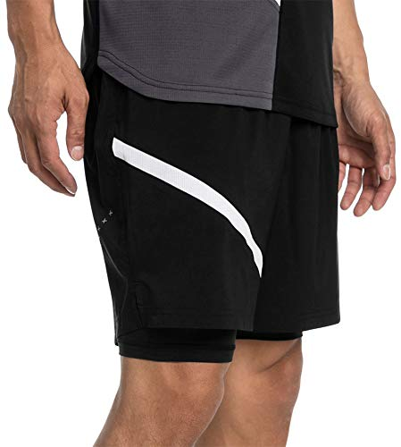 PUMA Ignite Woven 2 in 1 Mens Running Shorts - Black-S (Men Puma Running Shorts)