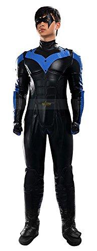 Mtxc Men's DC Cosplay Nightwing Full Set Size Large (Cosplay Nightwing Costume)