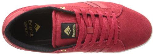 Emerica THE LEO 2 THE LEO 2-M - Zapatillas de skate de cuero para hombre Rojo