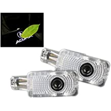 DELEIKA 2ps LED Car Door Welcome Logo Ghost Shadow Projector Lights Courtesy Lights For Acura MDX ZDX TL TLX RLX RCX Honda Civic Hybird Hopmc Insight Wireless 3D Laser Warning Lamp (Acura White Logo)