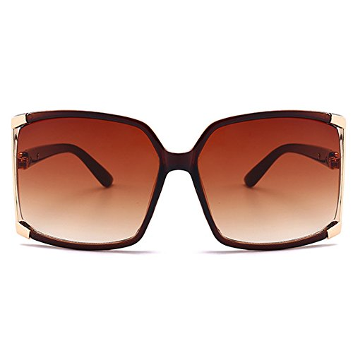 New Fashion Women Oversized Square sunglasses UV Protection eye glasses Goggles UV400 (Oversized Square Sunglasses)