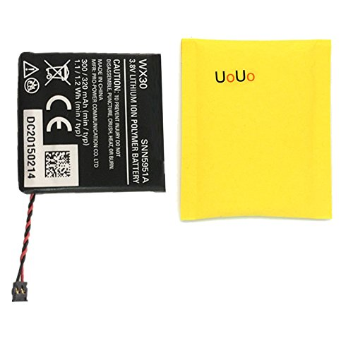 UoUo New Replacement 300mAh 3.8V WX30 Battery for Moto 360 1st-Gen Smart Watch