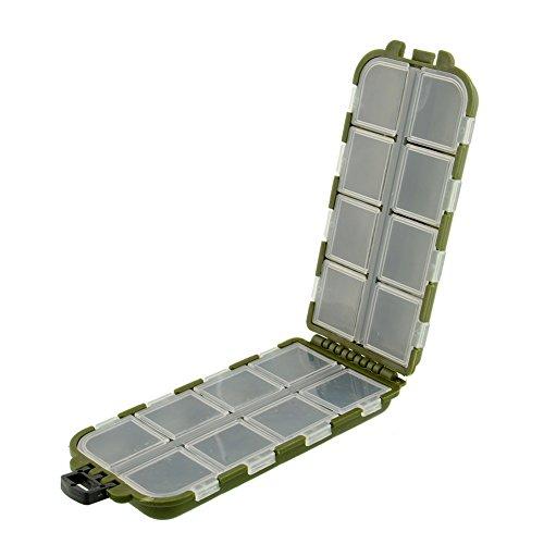 (Sedeta Hanbaili 8 Compartments Storage Case Fishing Spoon Hook Bait Tackle Box for usb flash drive Green Useful tackle box)