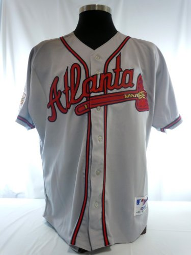 sports shoes f8d18 43cf4 Atlanta Braves Vintage Authentic Russell Road Jersey w/ 1996 ...