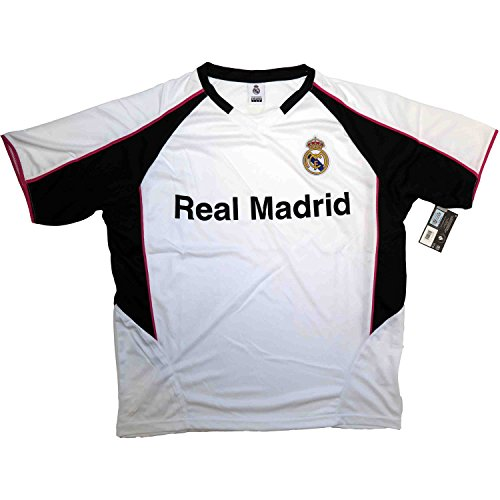 Real Madrid FC Football Soccer Men's Performance Polyshirt Jersey Home X-Large White/Black