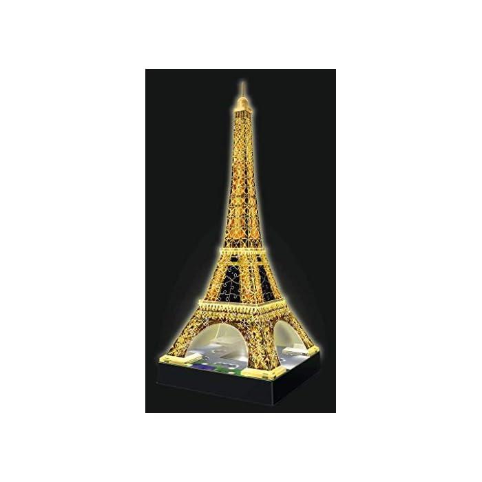 41agc0c5jCL Contiene 216 piezas con la tema de Tour Eiffel Piezas de plástico que se encajan perfectamente sin uso de pegamento Versión 3D