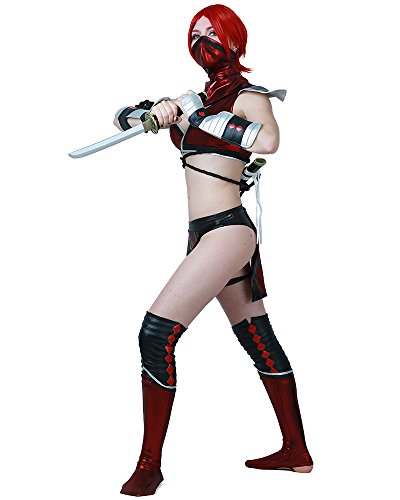 miccostumes Women's Skarlet Cosplay Costume Halloween (M) Red/Black]()