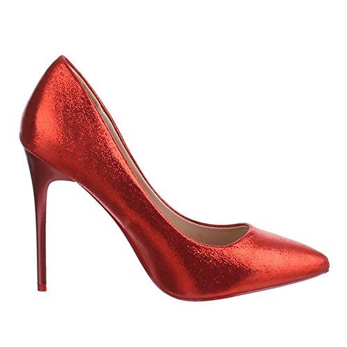 Ital-Design - Zapatos de Tacón Mujer Rojo - rojo