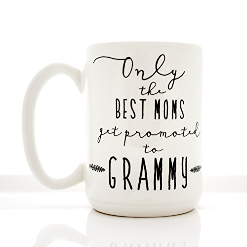 LIZNICE - Coffee Mug. Only The Best Moms Get Promoted to Grammy. Mother's Day mugs by Milk & Honey. MUG 15oz