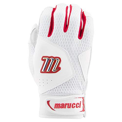 Marucci Sports Equipment Sports, MBGQST2Y-W/RB-YL, Youth Quest 2.0 Batting Gloves