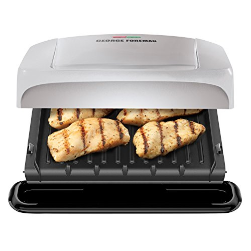 George Foreman 4-Serving Removable Plate Grill and Panini Press, Platinum, GRP1060P by George Foreman (Image #7)