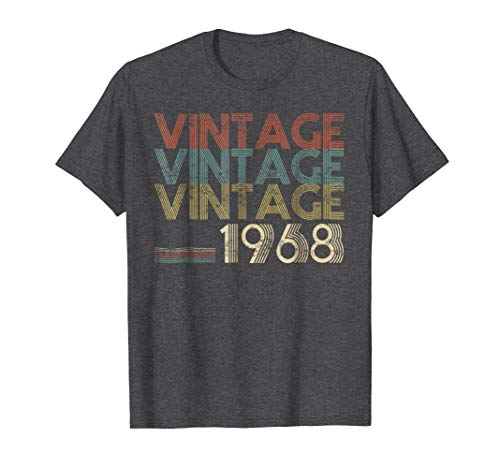 Mens Retro Classic Vintage Born In 1968 - 50th Gift 50 Years Old XL Dark Heather by Idea Birthday Gift - The Birth Of Legends