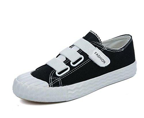 Plano BLACK Señora Zapatos XIE Estudiantes Bottom Ocio Amoi Diario Cómodo 38 39 Ayuda Lona de Zapatos Baja Movimiento Cuatro Colores qcXwWRUBw