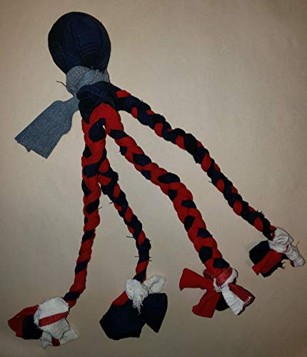 Handmade Octopus Dog Toy - Ball Plus Multiple Legs To Hold Attention and Promote Play