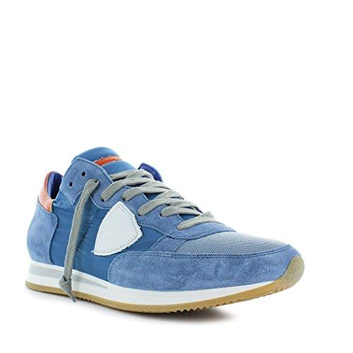 Philippe Model Scarpe da Uomo Sneaker Tropez Blu/Rosso Primavera Estate 2018