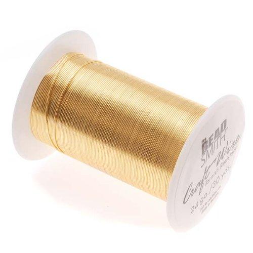 - Beadaholique Tarnish Resistant Copper Craft Wire, 27.4m, Gold