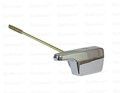 Side Mount Eljer Toilet Tank Flush Trip Lever Replacement, Chrome Finish Handle