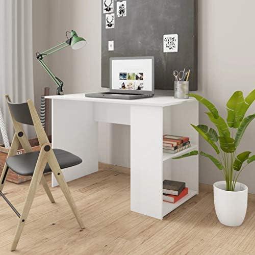 vidaXL Bureau Spaanplaat Wit Schrijftafel Werktafel Schrijfbureau Studeertafel