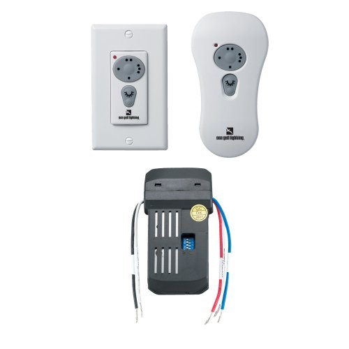 Sea Gull Lighting 16006-15 Combo Remote Control Kit Fluorescent Remotes for Fan, White