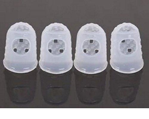 Guitar Fingertip Protectors Silicone Finger Guards For Ukulele (white)