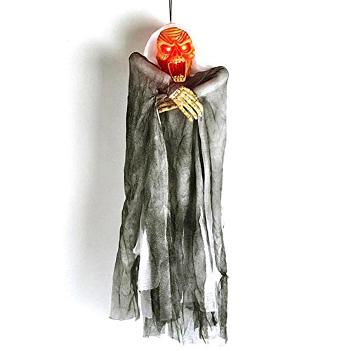 Super Cheap Halloween Decorations (RoseSummer Halloween Creepy Haunted Voice Control Hanging Ghost Door Decoration( Color random))