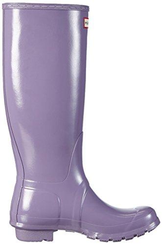 Hunter Original Tall Gloss, Botas de Estar por Casa para Mujer Morado - Violett (Thundercloud)