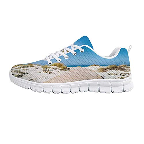 (YOLIYANA Beach Jogging Running ShoesPathway on The Tropic Sandy Beach Recreation Hot Warm Sunny Leisure Pleasure Time Sneakers for Girls Womens,US 10)