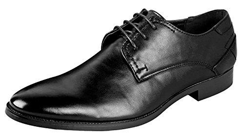 Urban Fox Men's Vincent Oxford Dress Shoes | Lace Up Oxfords | Mens Oxford | Classic Dress Shoes | Black 7 by Urban Fox
