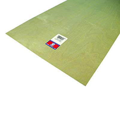 Midwest Products 5242 Aircraft Grade Birch Plywood Sheet, 12 x 24 inches