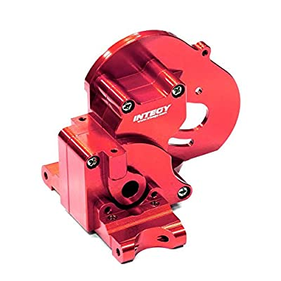 Integy RC Model Hop-ups T7983RED Alloy Gearbox Housing for Traxxas 1/10 Stampede 2WD, Rustler 2WD & Bandit XL5: Toys & Games