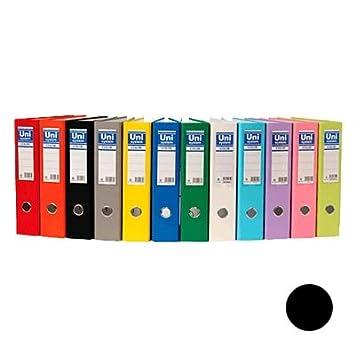 Uni-System GT400097710 - Archivador, formato A3, lomo 70 mm, negro, 4 unidades: Amazon.es: Oficina y papelería