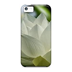 LJF phone case Cute Tpu WilliamMorrisNelson White Lotus For Chloe Case Cover For iphone 4/4s