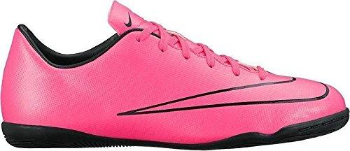 Nike JR Mercurial Victory V IC Indoor Soccer Shoe (Hyper Pink, Black) - Girls Shoes Nike Indoor Soccer