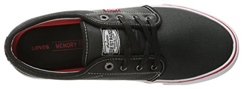 Ii Fashion Black Levi's Porter Sneaker Sport Men's Red pzwHHcqExr