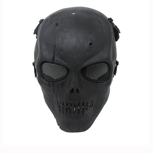 Thiroom Full Face Tactical Airsoft Paintball Cosplay Mask wi