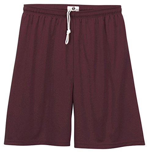 Badger Sportswear Youth Elastic Waist Shorts, maroon, Medium [Apparel]