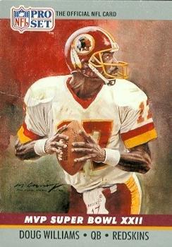 Doug Williams Football Card (Washington Redskins) 1990 Pro Set Super Bowl MVP #22 - Doug Williams Super Bowl