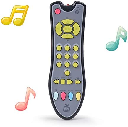 NUOEY Kids Musical TV Remote Control Toy with Light and Sound, Early Education Learning Remote Toy for six Months+ Toddlers Boys or Girls