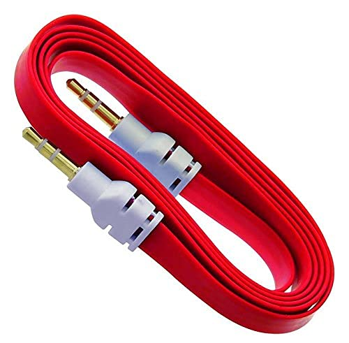 Yash Vision 3.5Mm Flat Ep Stereo Audio Aux Cable  3 Feet / 1 Meter   Color May Vary