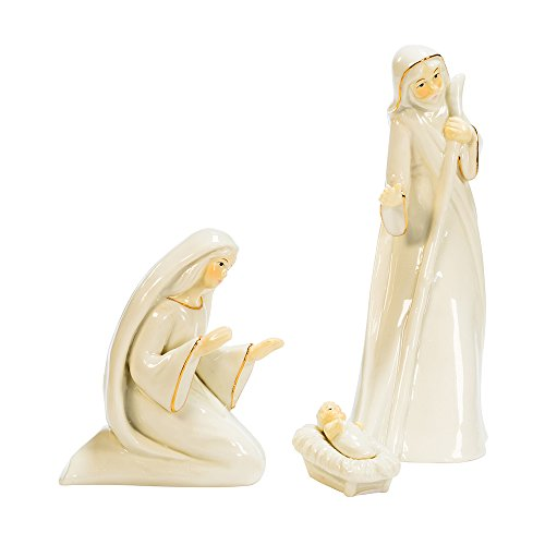 Kurt Adler 3-Piece Porcelain Holy Family Set Holiday Figurine by Kurt Adler