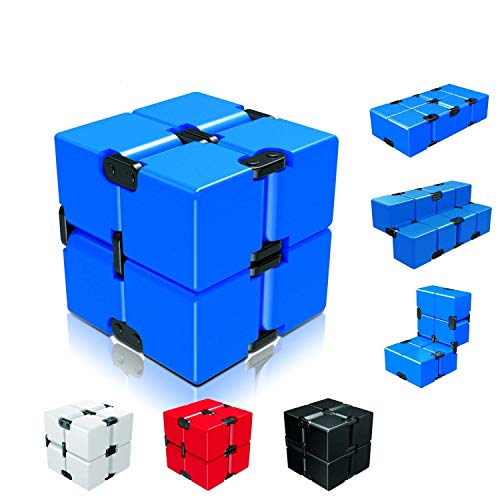 Ganowo Infinity Cube Fidget Toy for Kids and Adults, Fidget Cube Cool Mini Magic Cube Gadget Spinner for Stress and Anxiety Relief and Kill Time (Blue)