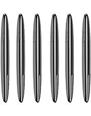 Romacci Protetor de porta de carro de 4 pacotes Protetor de canto transparente de borda automática Autocolante protetor de borda lateral de porta automática universal adesivos de pára-choque anti-colisão anti-fricção se encaixa a maioria dos veículos utilitários esportivos preto