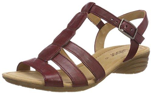 sandalias Cuña übergrößen 550 Mujer De red Gabor Fitting zapatos cómodo Cuña 24 plana best Verano Del sandalias sandalias dark Rojo 58aw0qB0x