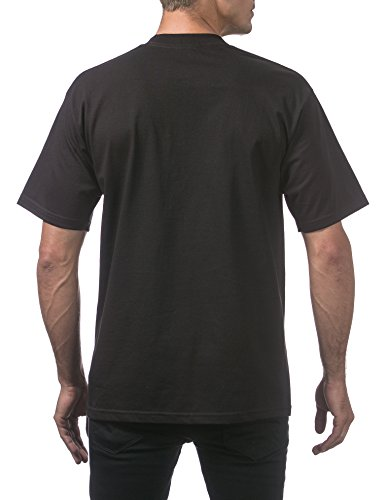 Pro Club Men's Heavyweight Cotton Short Sleeve Crew Neck T-Shirt, 4X-Large, Black (3 Pack) by Pro Club (Image #2)