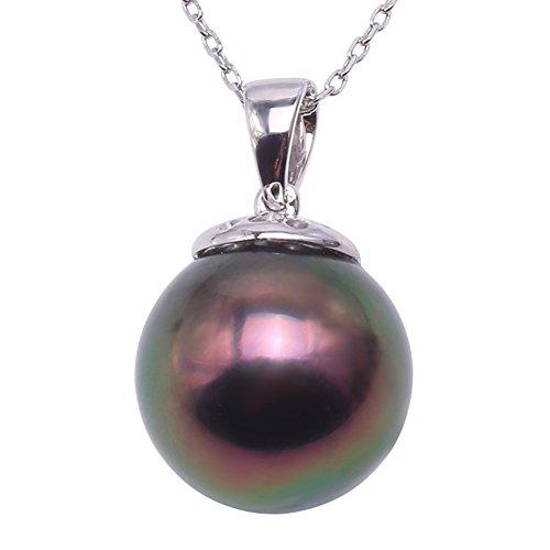 hitian Cultured Pearl Pendant Necklace (12mm Tahitian Pearl Pendant)
